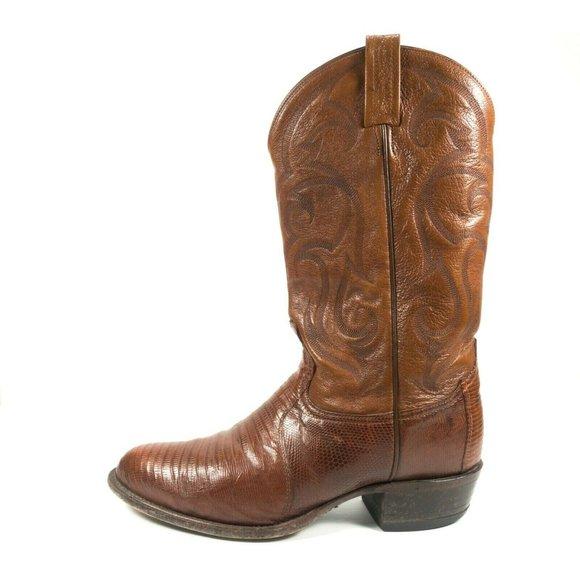 Tony Lama Exotic Leather Western Cowboy Boots